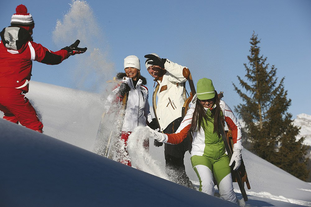 Skiing fun on the longest downhill slope in South Tyrol